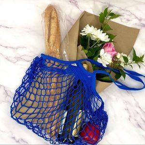 AUTHENTIC Blue French Filt Market Bag